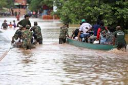 Laos braces for Tropical storm Saudel as it receives law enforcement vehicles assistance from China