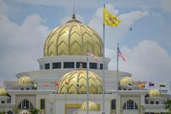 Situation calm at main entrance to Istana Negara, tight security visible