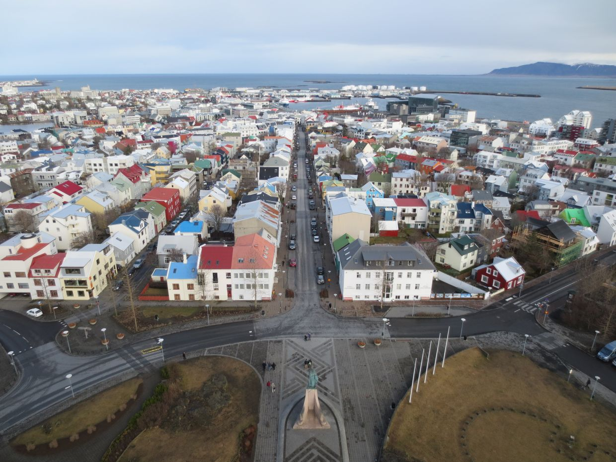 Visit the Hallgrimskirkja church after your run for views of Reykjavik. — Photos: Wikimedia Commons