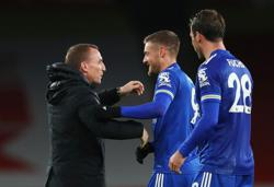Leicester's Rodgers delighted with Vardy's impact against Arsenal