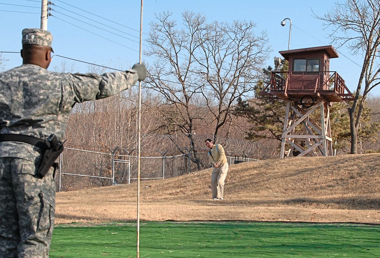 Dubbed the 'most dangerous golf course in the world', Camp Bonifas is located in the Korean Demilitarised Zone. — EDWARD N. JOHNSON/US Army