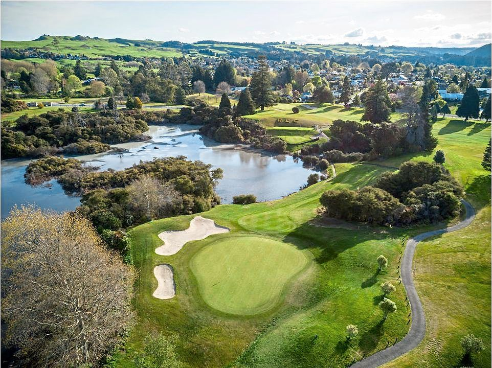 The Rotorua Golf Club was built around the Arikikapakapa reserve in Whakarewarewa, an active geothermal area in New Zealand. — Rotorua Golf Club website
