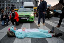 Abortion rights protests block city streets across Poland