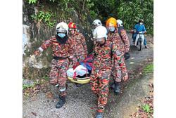 Firemen trek two hours uphill to retrieve body