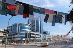 A stitched collage artwork stretching 5km pays homage to abused Iraq Kurd women