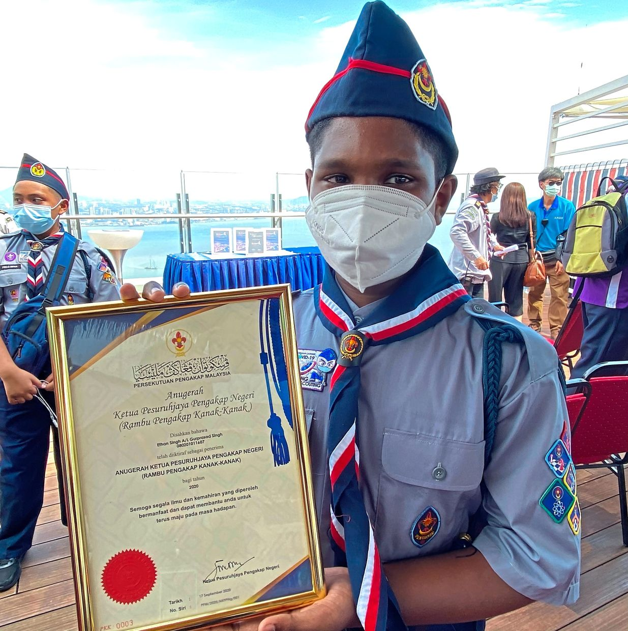 Ethan hopes to be recognised as a Royal Scout in the future.