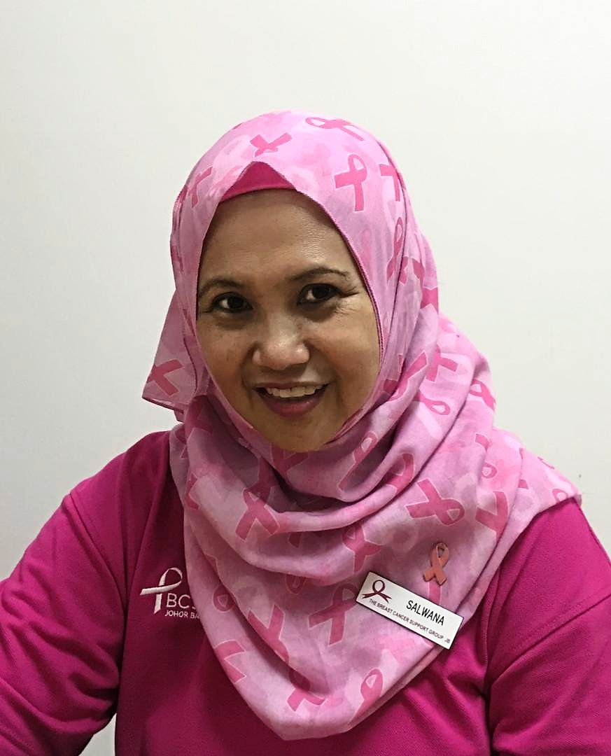 Salwana wants to continue spreading strength and hope to others who are battling breast cancer.