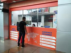 Money changers in JB waiting for better times