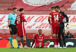 Fabinho joins Van Dijk on Liverpool's defensive injury list