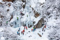 Austrias ice festival will thrill with frozen waterfalls and ice climbing
