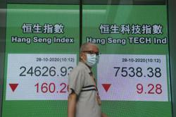 Equity markets mixed as virus surges in US, Europe