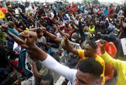 Nigerian army says it intervened in protests at Lagos government's request