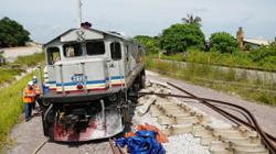 Train derails in Segamat, all passengers reported safe