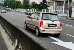 Video of elderly man driving against traffic, causing accident circulated on social media