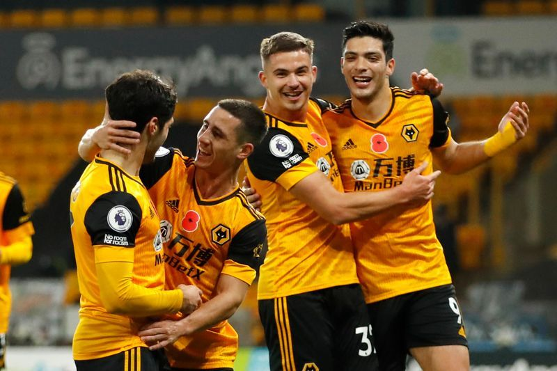 Wolves beat Crystal Palace 2-0 to move up to third in Premier League