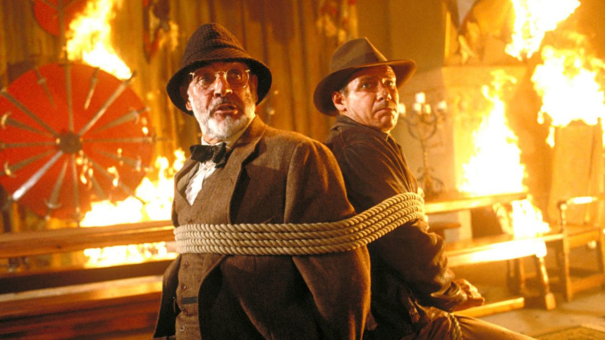 Sean Connery and Harrison Ford in 'Indiana Jones And The Last Crusade'.