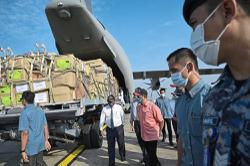 Military aircraft deployed to deliver critical items to Sabah and S'wak