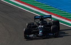 Hamilton sets pace during Imola practice