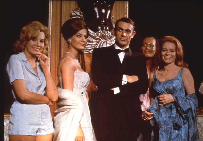 Connery as James Bond in Thunderball. The actor will always be remembered for that famous role he played in six Bond movies. - AP