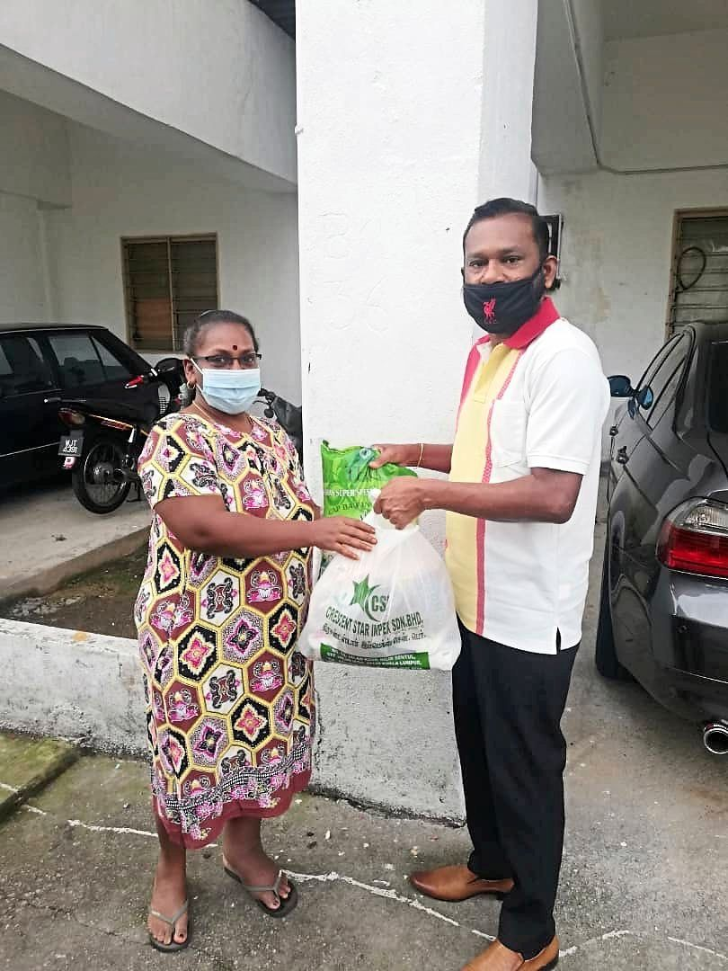 Parthiban delivers food and groceries to supplement his income.