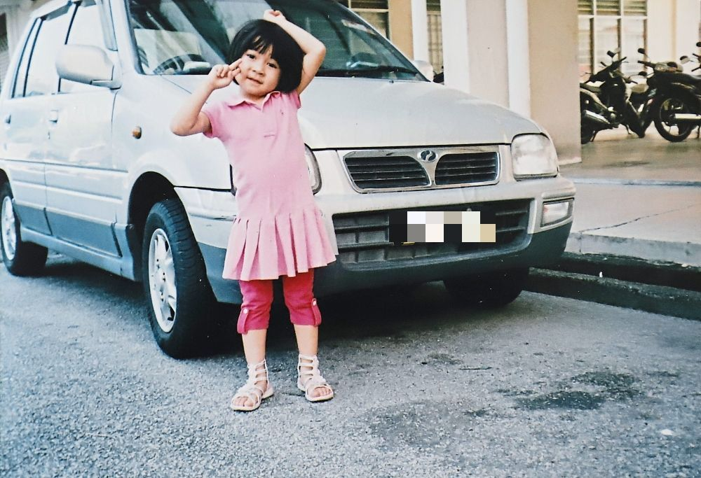Wen Yi as a little girl when she was in Penang.
