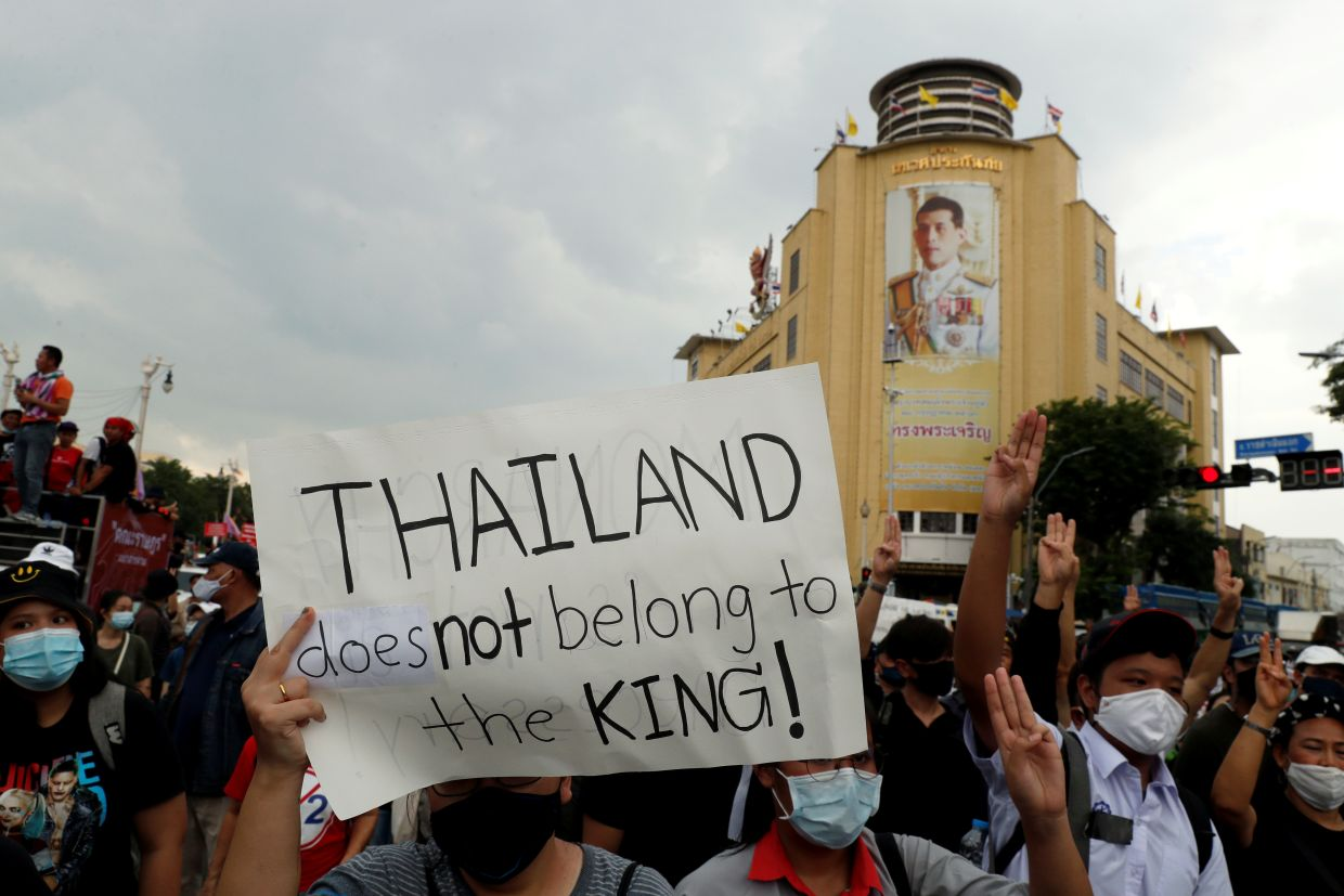 Thai student groups have laid out 10 demands for change, including reducing the king's constitutional powers, personal control of the royal fortune and of some units of the army.