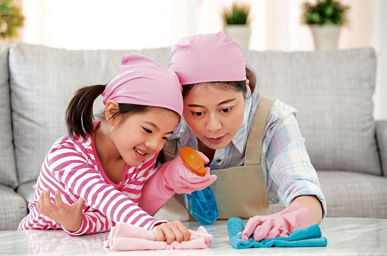 Getting your child to help out with household chores is one way to teach responsibility and get her mind off homework. — Positive Parenting