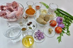 Rich flavours in chicken curry