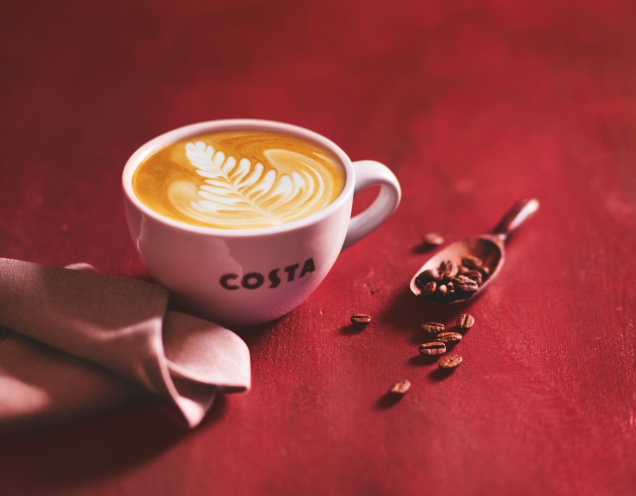 Earn 'beans' reward points and redeem cashback offers from Costa Coffee.