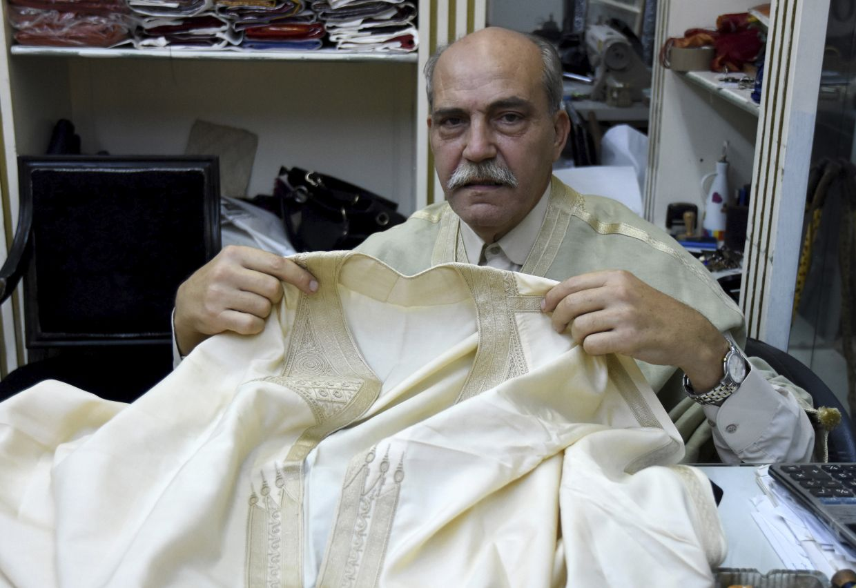 Lasaad El Beji Amine El Hrairia is an example of a local Tunisian artisan whose craft and production of high-quality hand-made material is being incorporated by these new sustainable fashion brands. Photo: AP
