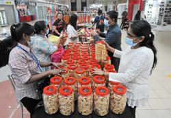 Deepavali bazaar set up indoors