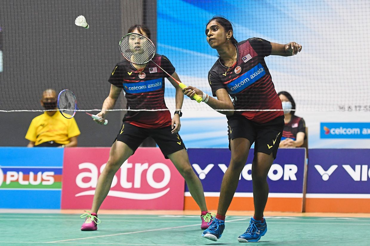Making great strides: M. Thinaah (right) and Pearly Tan are currently ranked 39th in the world.