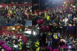 104 issued compounds, eight foreign women detained at entertainment outlet