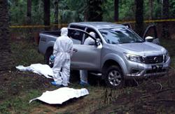 Decomposed body of man found in driver's seat of 4WD in oil palm plantation