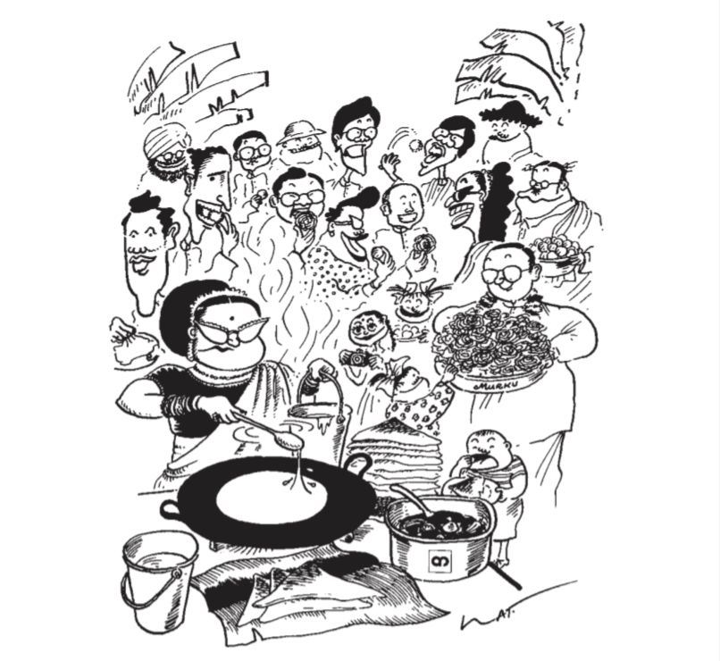 Datuk Lat's Deepavali cartoon for Berita AmBank Group in 1987.