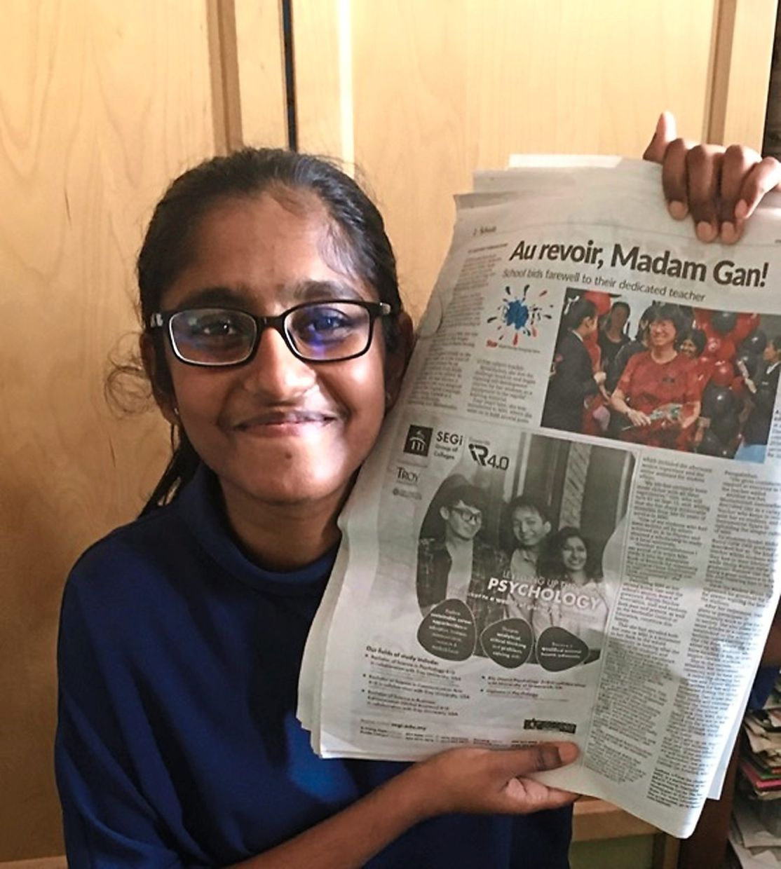 A winning sensation: Sadhna felt like a Nobel Prize recipient the day The Star published her story on her teacher's retirement.
