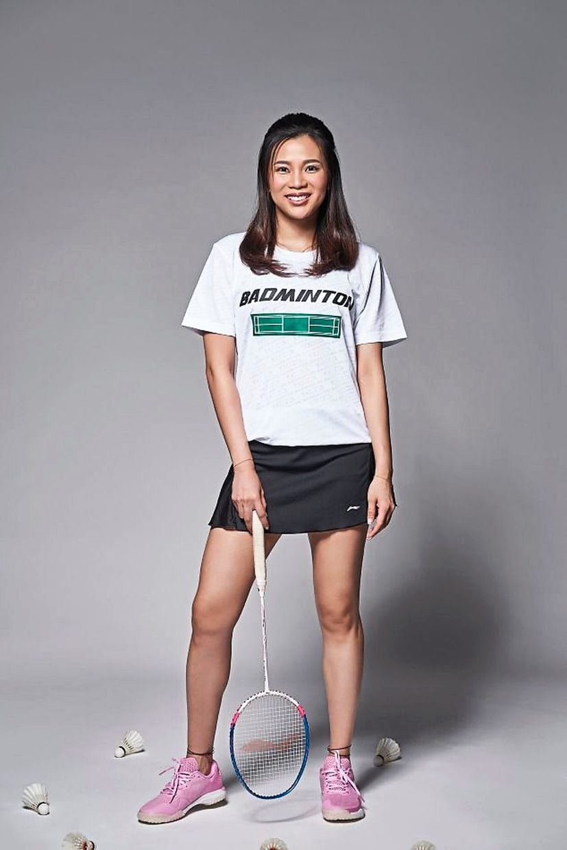 Mixing it up: Liu Ying feels comfortable and fashionable in her attire.