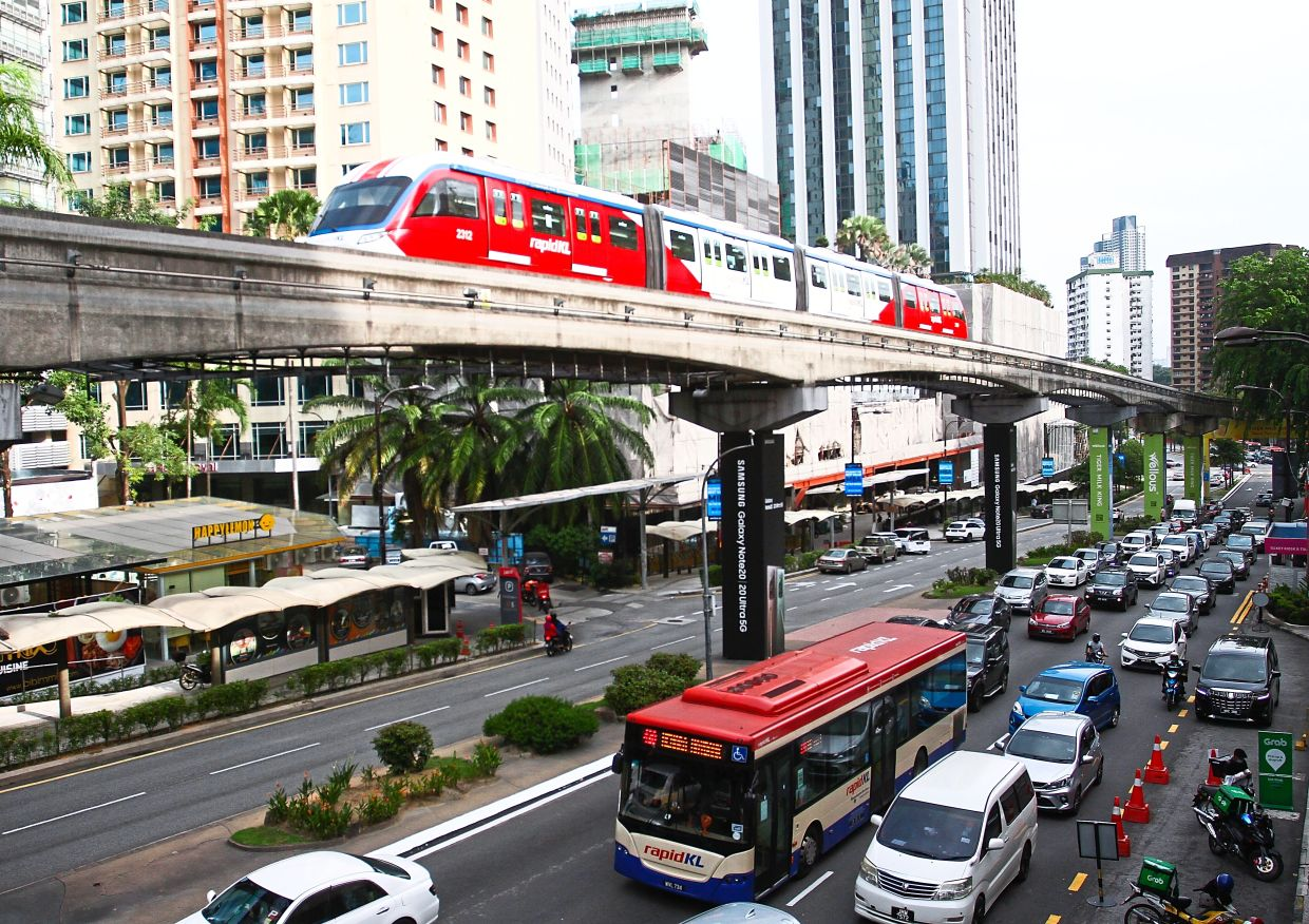 DBKL plans to get more commuters to switch to public transportation to eliminate traffic crawls like along this street in the heart of Kuala Lumpur.