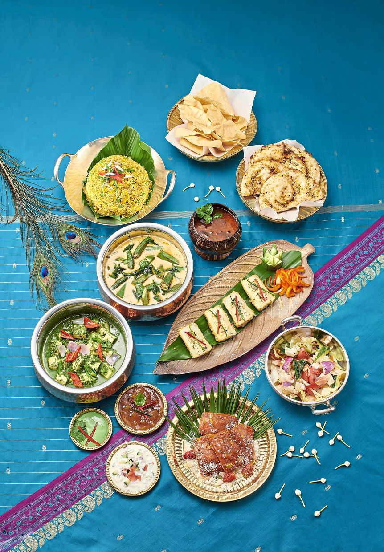 Shangri-La Kuala Lumpur's Deepavali vegetarian set menus feature dishes such as Dhal Pudiney Ka Ras, Til Ke Bharwan Tandoori Aloo and Paneer Butter Masala.