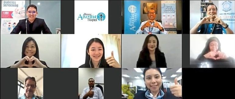A screenshot of participants attending the virtual launching ceremony for 'Blue Circle November Campaign' via Zoom.