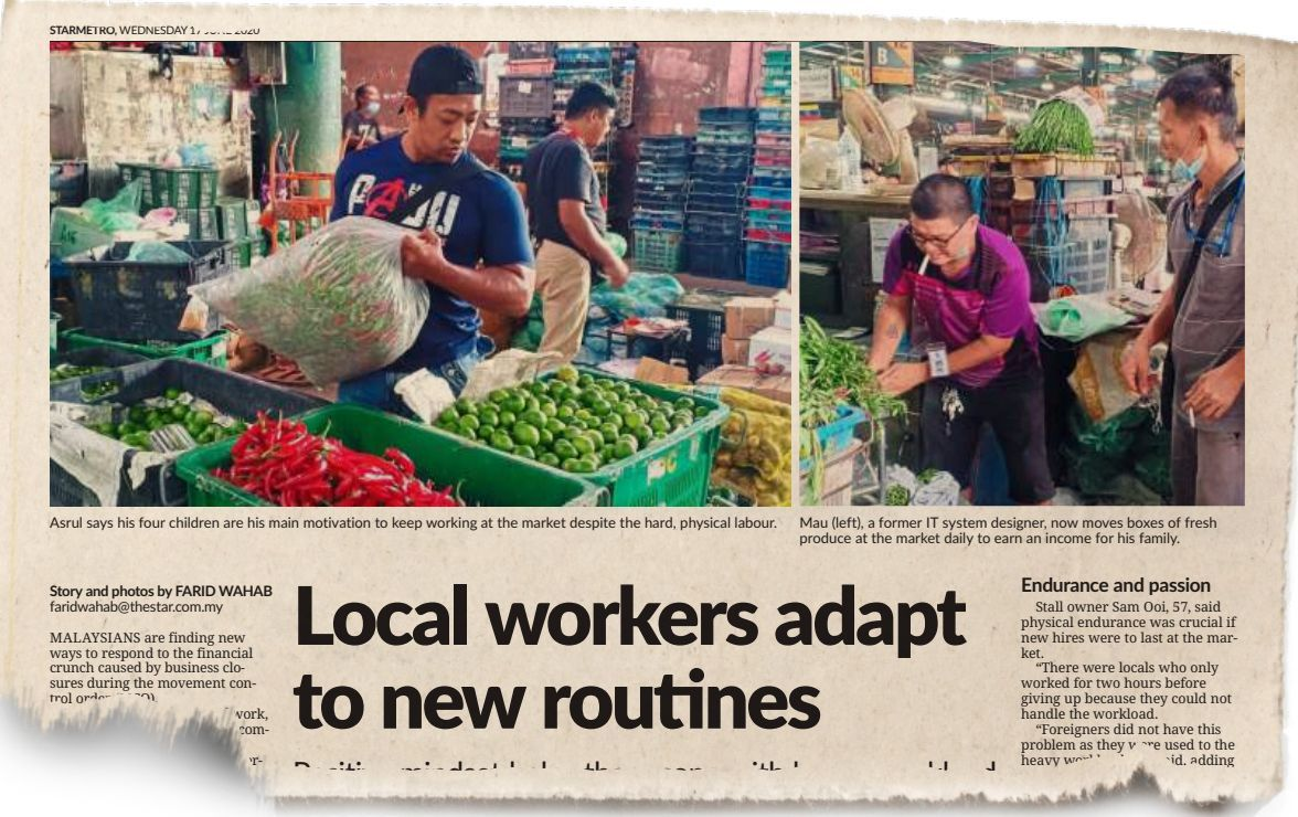 StarMetro's report on June 17 about more local workers taking up jobs at Pasar Borong Kuala Lumpur.