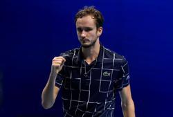 Medvedev notches first win at ATP Finals, Djokovic up next