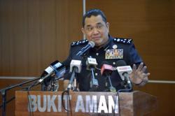 Bukit Aman: Crime down nationwide this year