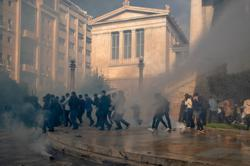 Greek police fire teargas at protesters on student revolt anniversary