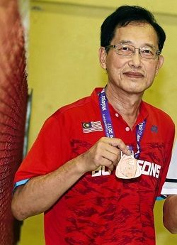 Winners don't quit: Chan Wan Seong won bronze medals at the 2015 and 2017 BWF World Senior championships.