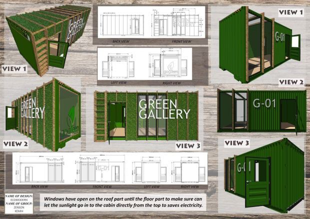 The students also came up with a green office space to reduce physical contact between people.