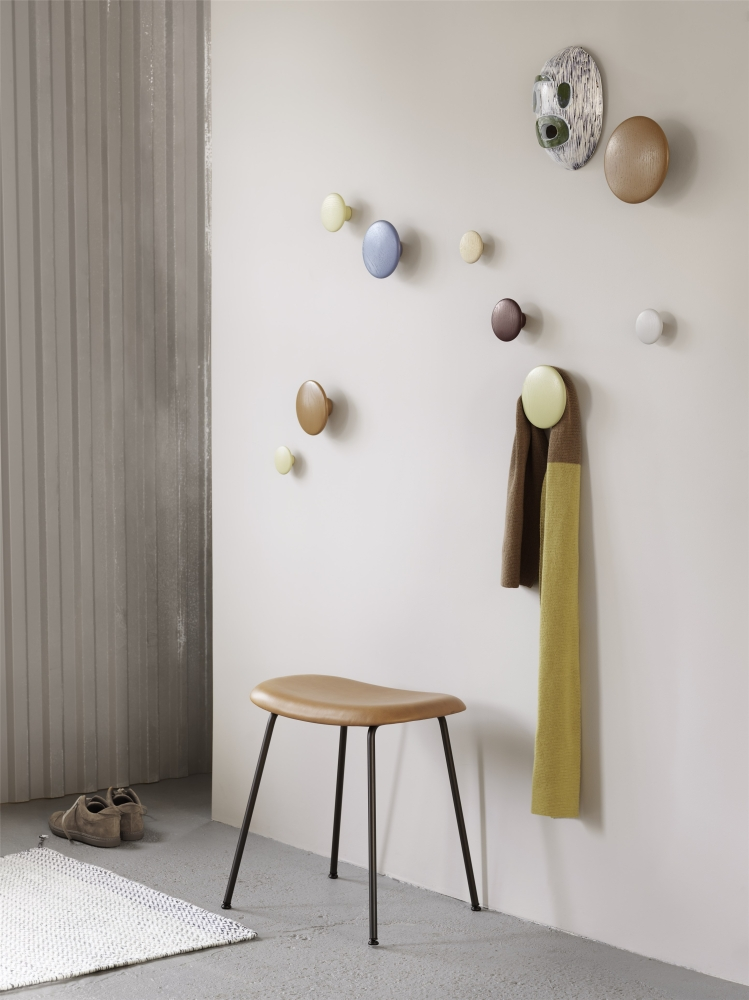 Colourful coat hooks can offer a playful alternative.