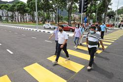 Completion of new link to ease traffic jams