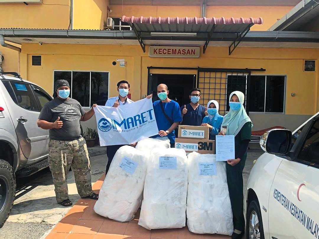 Going the distance: Imaret does its part in the fight against Covid-19 by distributing supplies to hospitals, led by its chief coordinator Dr Ahmad Yusuf Yahaya (left).