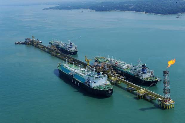 File pic shows PetGas terminal in Malacca.